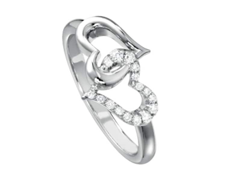「ピアジェ ハート」リング、ホワイトゴールド×ダイヤモンド、24万6750円