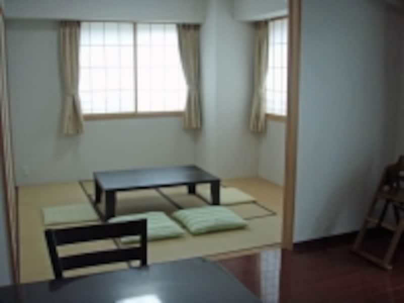 リビングにつながる和室はゆとりの部屋(客間)として使いたい。