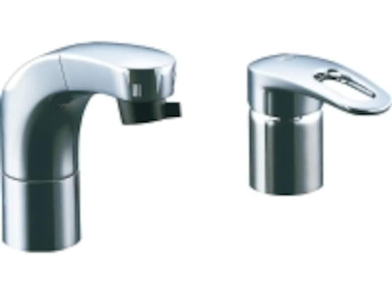 引き出して使うことができるので、洗面ボウルのお手入れなどにも便利。[シングルレバー混合水栓(吐水口引出式)(エコハンドル)]undefinedLIXILundefinedhttp://www.lixil.co.jp/