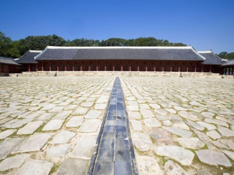 世界遺産のうちの一つ、宗廟。毎年5月には宗廟大祭という儀礼が行われている