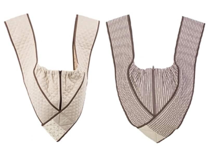 右は新色のダンガリーブラウン、左は麻混素材のナチュラルリネン(2011年9月のラインナップ)。季節に応じてラインナップが変わるのも楽しい