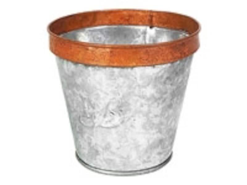 ブリキの鉢カバー