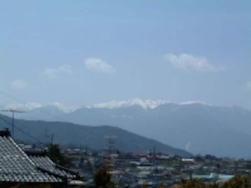 高遠城址公園から眺める中央アルプスの山々