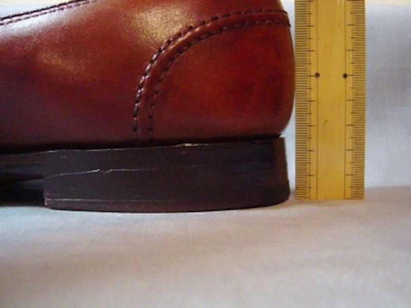 紳士靴のヒールの高さの中央値