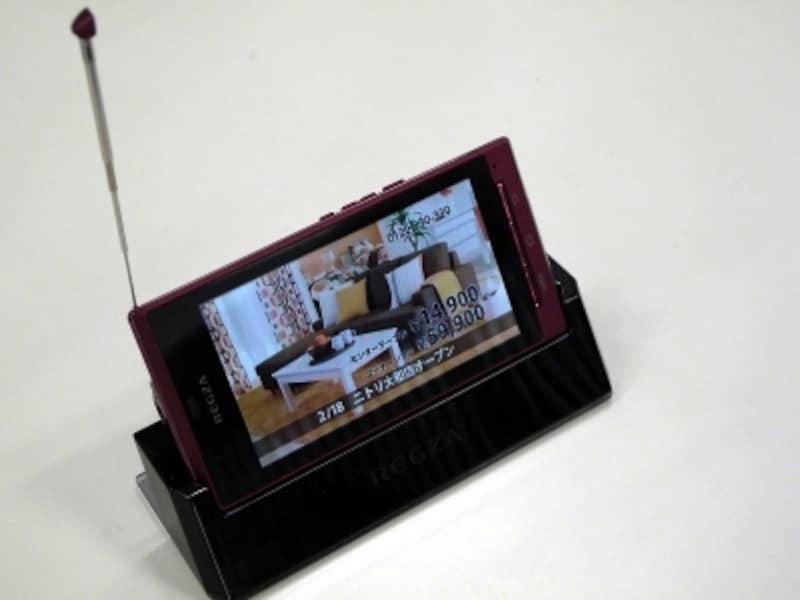 ワンセグ・おサイフ・赤外線・防水も搭載するREGZAPhone