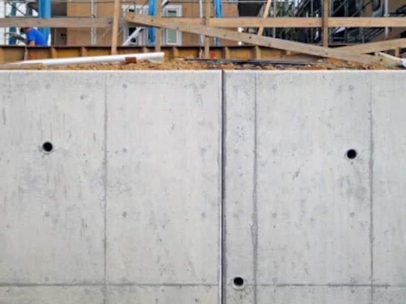 新築一戸建て住宅の擁壁