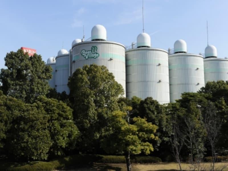 自然いっぱいの環境でビールなどが醸造されています(画像提供:キリンビール横浜工場)