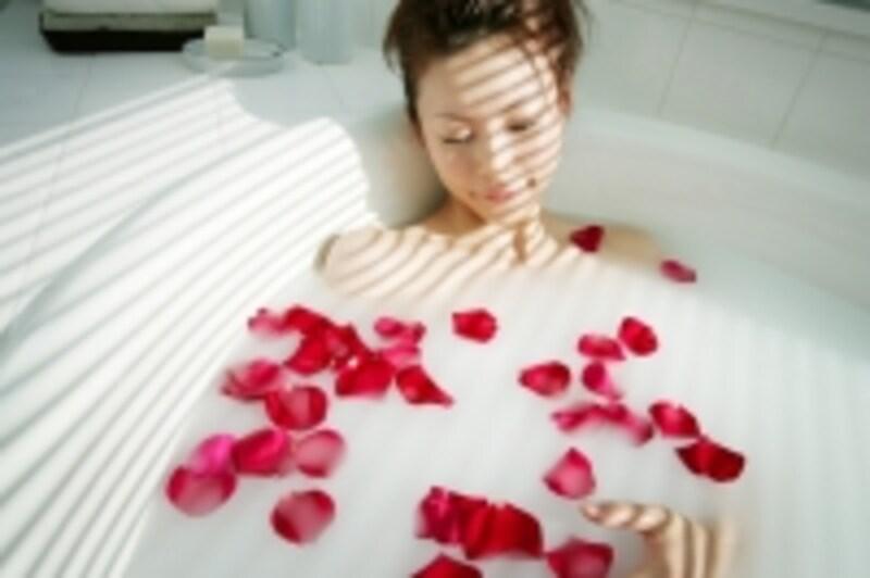 入浴すると身体の中から温まります