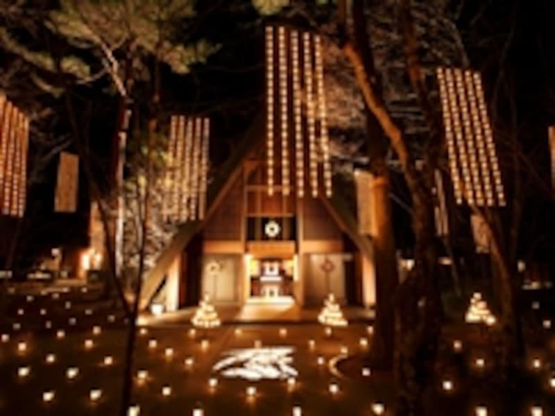 軽井沢高原教会「星降る森のクリスマス」