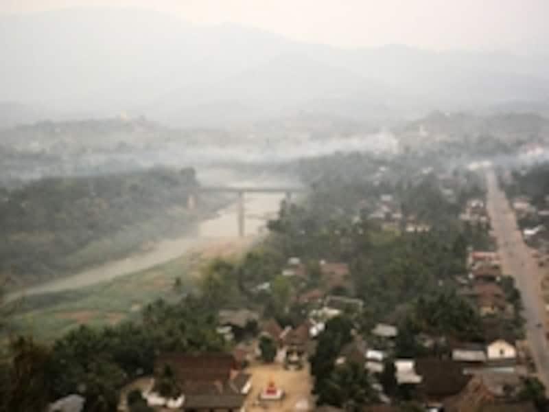 プーシーから見たルアン・パバンの町