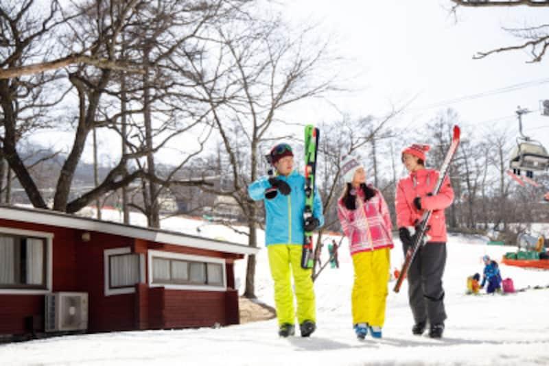 子供スキーデビュー、子連れスキーホテル・旅行・泊まり 軽井沢プリンスホテルイースト