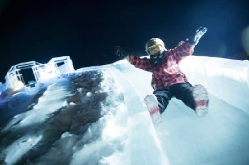 アイスヴィレッジの「氷の滑り台」