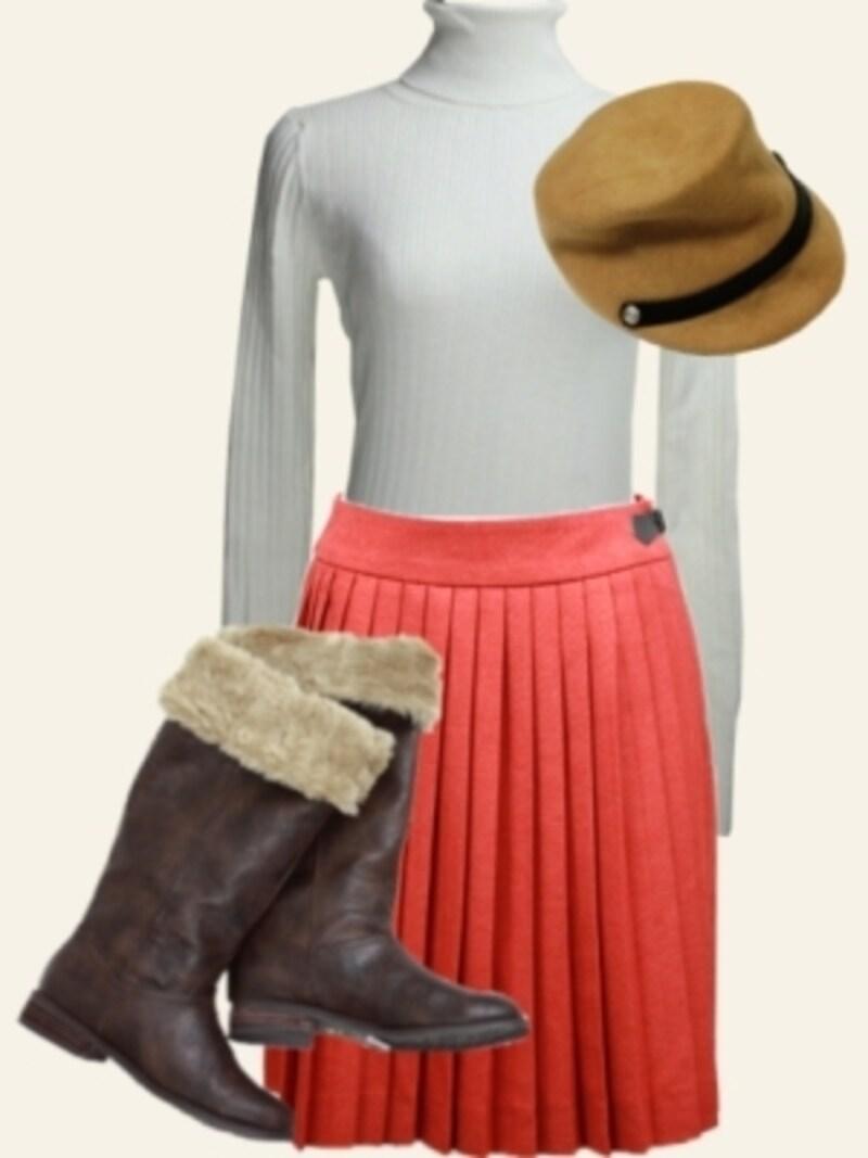 美脚を作るプリーツスカートの丈選び&コーデ術