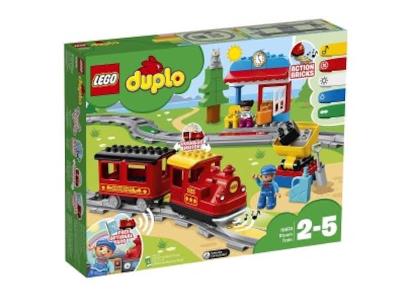 2歳クリスマスプレゼント人気ランキング第4位『レゴ デュプロキミが車掌さん!おしてGO機関車デラックス10874』