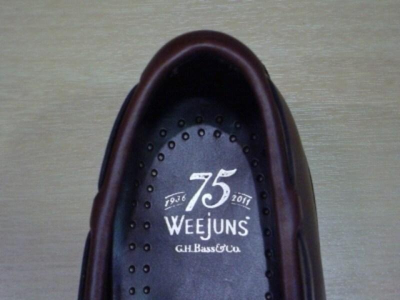 Weejuns75周年記念モデルのソックシート