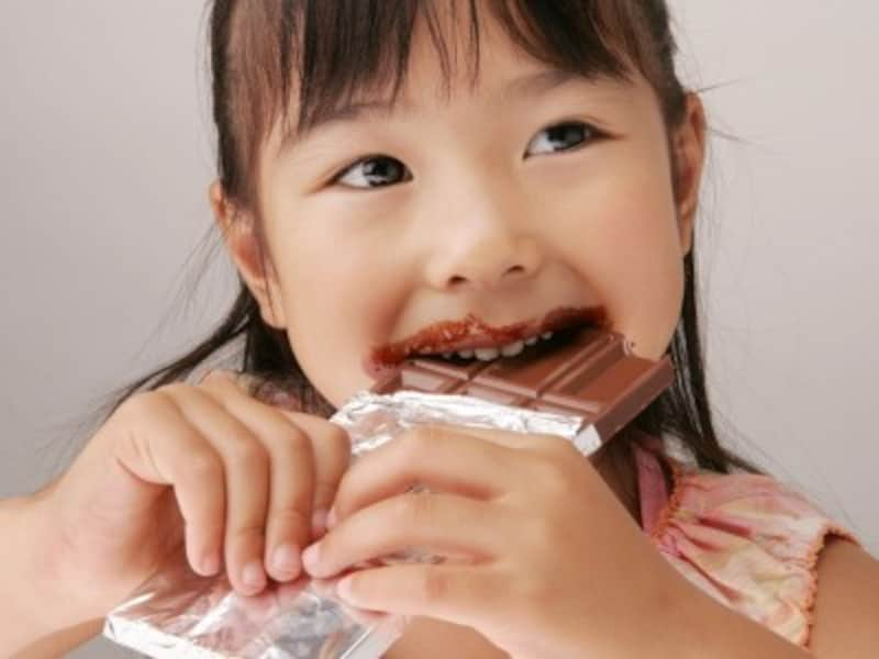 在庫管理の考え方子供が知らない間にお菓子を食べると在庫不足に