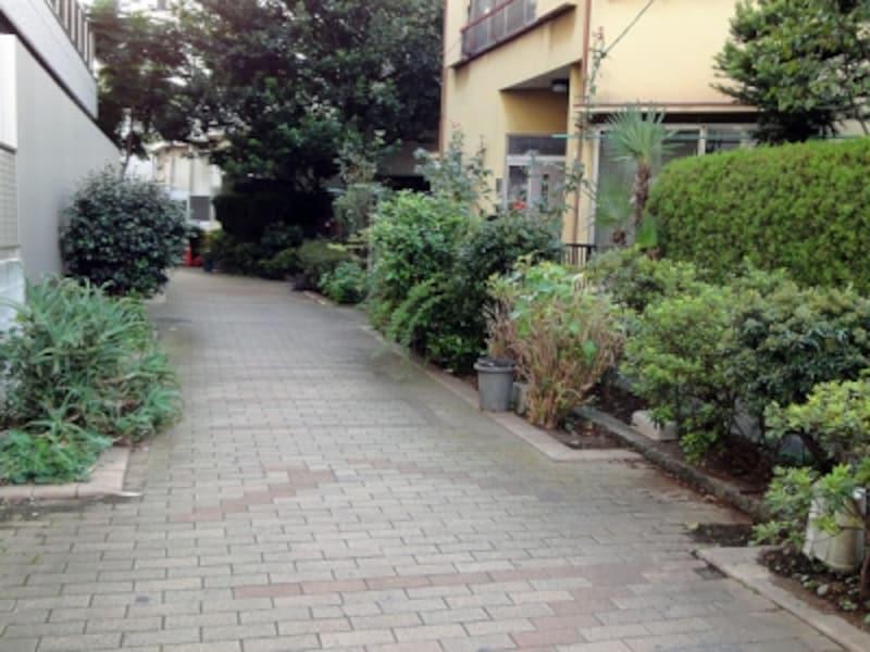 住宅地の水路跡
