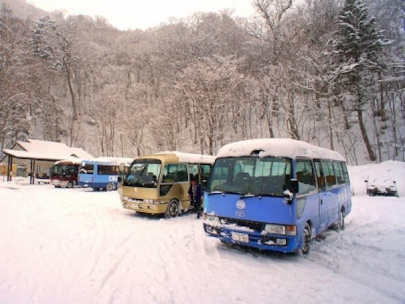 奥鬼怒温泉郷は徒歩でしか行けない温泉。加仁湯を満喫するなら、11時50分の最初の送迎バスがお勧め。宿には12時30分頃からチェックイン可能