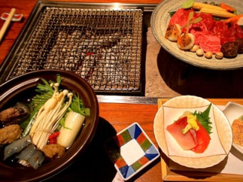 平湯温泉深山桜庵の夕食