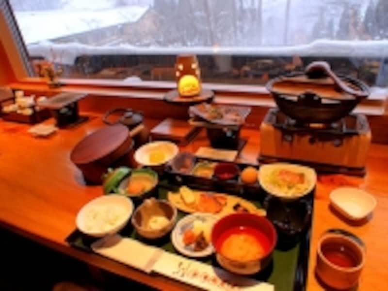 平湯温泉深山桜庵の朝食