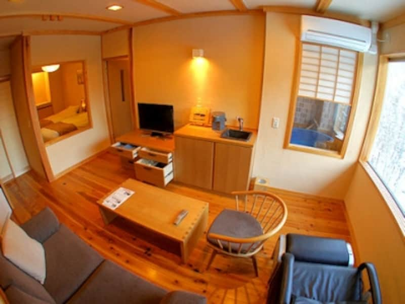 平湯温泉深山桜庵の客室