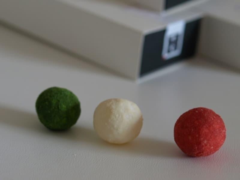 丸(和三盆、苺、抹茶*季節限定)価格:各630円(20粒入り 送料別)