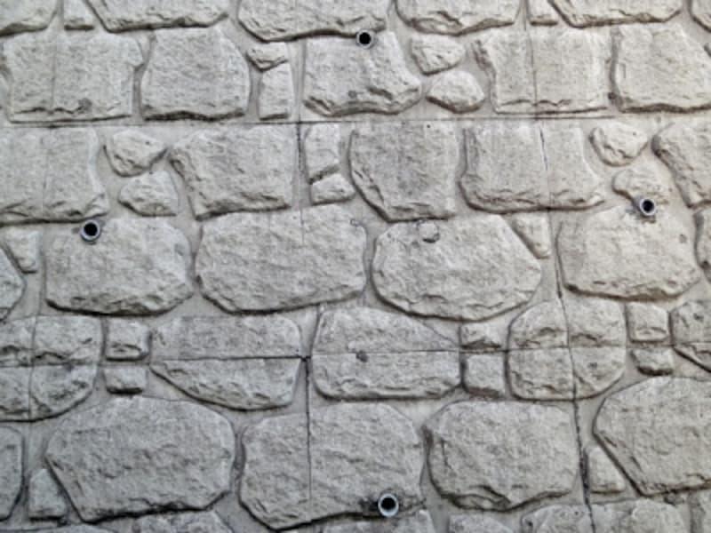 コンクリートブロックの擁壁