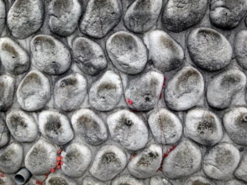 玉石積の擁壁
