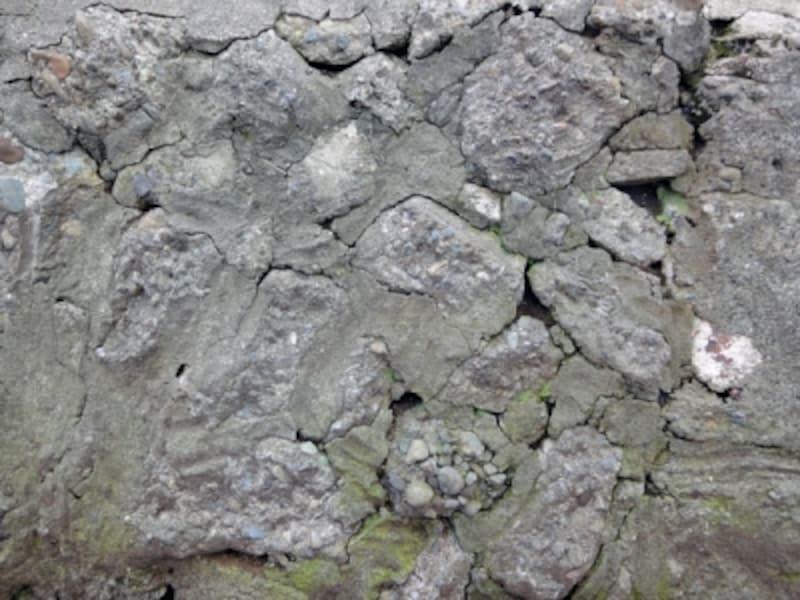 ガンタ積の擁壁