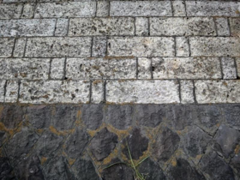 大谷石のの増積擁壁