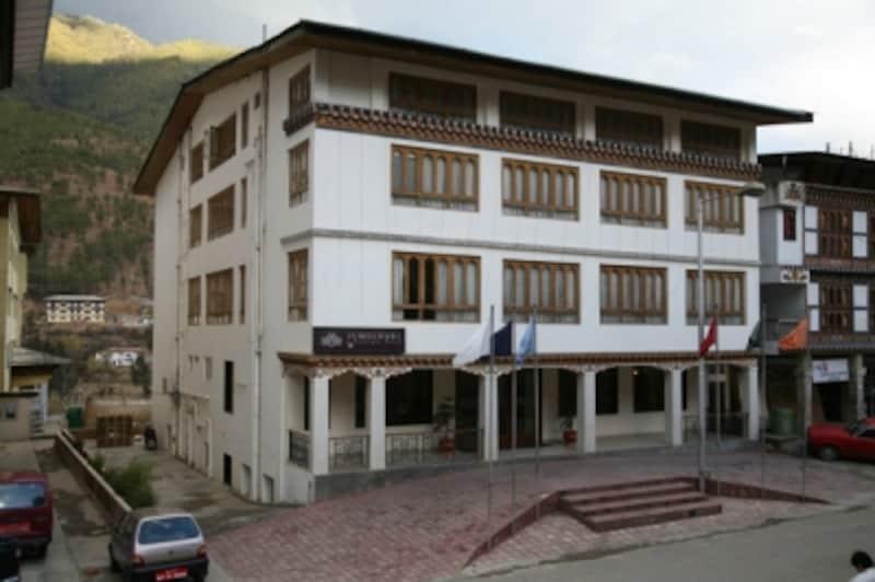 ブータンの標準的なホテル:Jumolhari