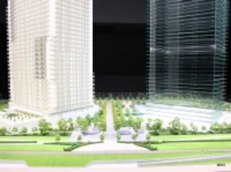 「ザ・パークハウス晴海タワークロノレジデンス」模型