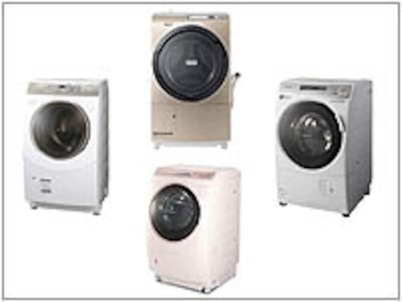 各社のドラム式洗濯乾燥機・2011-12年モデル