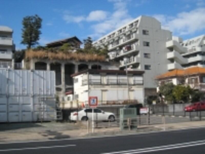 高低差のある住宅地