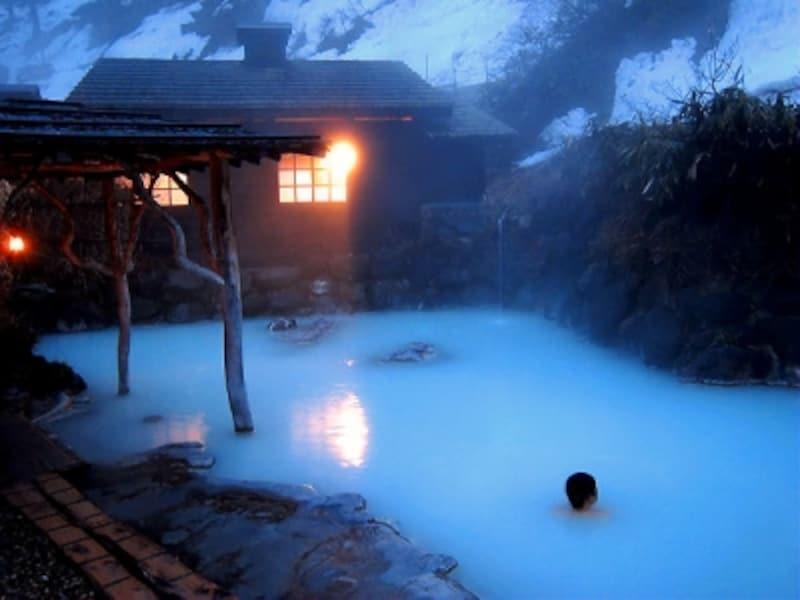 乳頭温泉「鶴の湯」混浴露天風呂