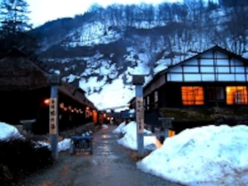 乳頭温泉「鶴の湯」入口