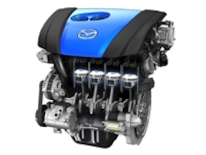 SKYACTIV-G2.0では、4-2-1排気システムを採用し、さらにエンジン効率を高めた