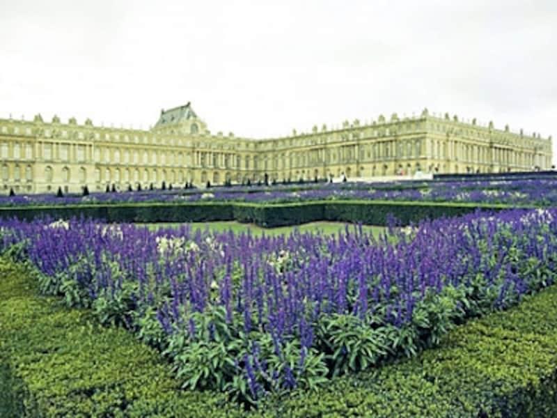 庭園から眺めたベルサイユ宮殿
