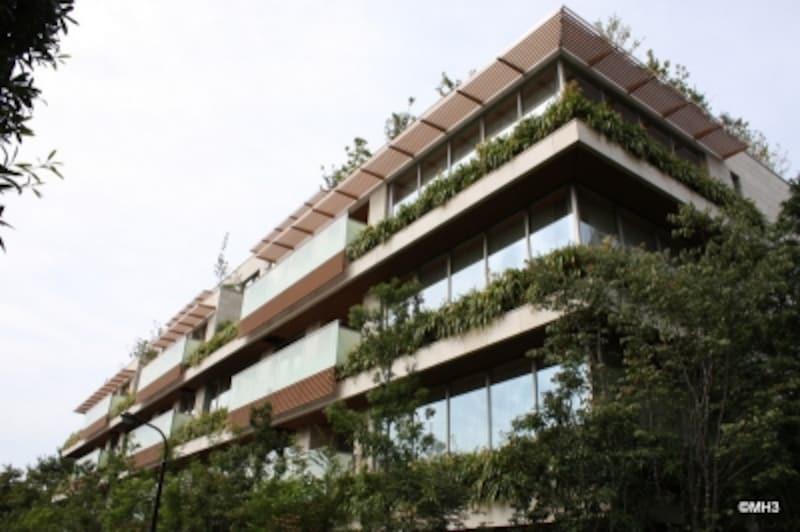 日本で初の新築LEED認証を取得した高級賃貸マンション「麻布ガーデンズ」