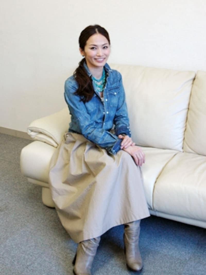 インテリアモデルの倉本康子さん
