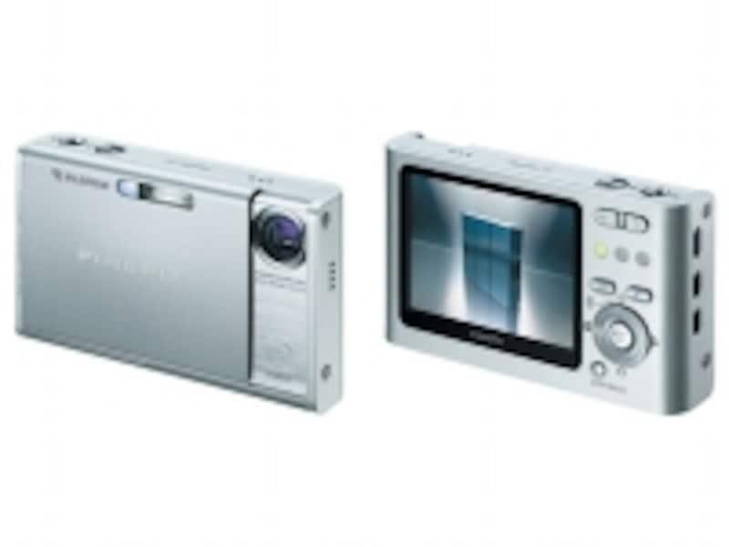 富士フイルム「FinePixZ1」2005年5月に発売されたZシリーズの第1号モデル。屈曲光学式3倍ズームレンズを搭載しながら、薄さ18.6mmを実現していた
