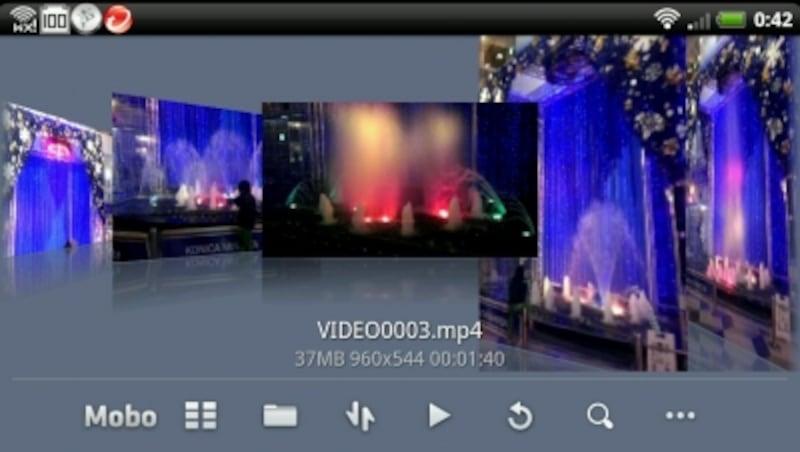 簡単操作で動画再生