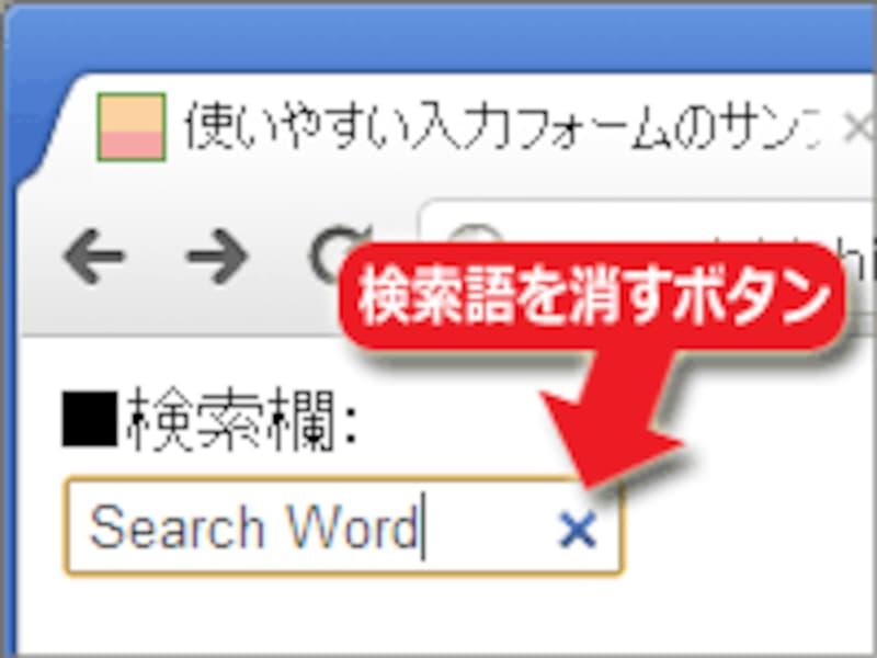 Chromeでの表示例