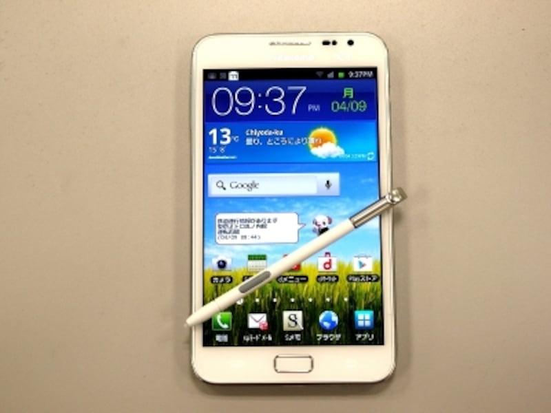 ペンとノートになるまったく新しいスマートフォンGALAXYNoteSC-05D