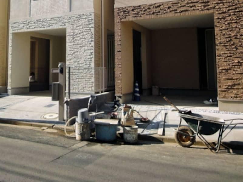 建売住宅の1階車庫