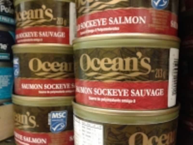 カナダのスーパーではよく見かけるブランドのOceans。でも、ほとんどがメイドインUSA
