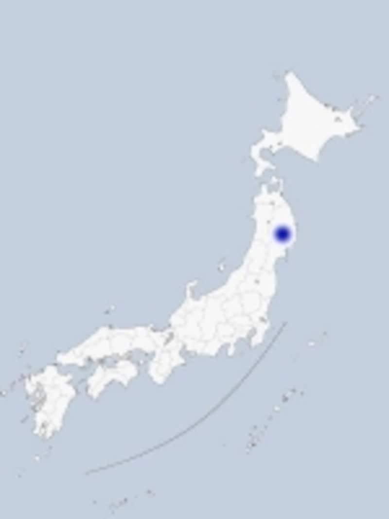 北上の地図