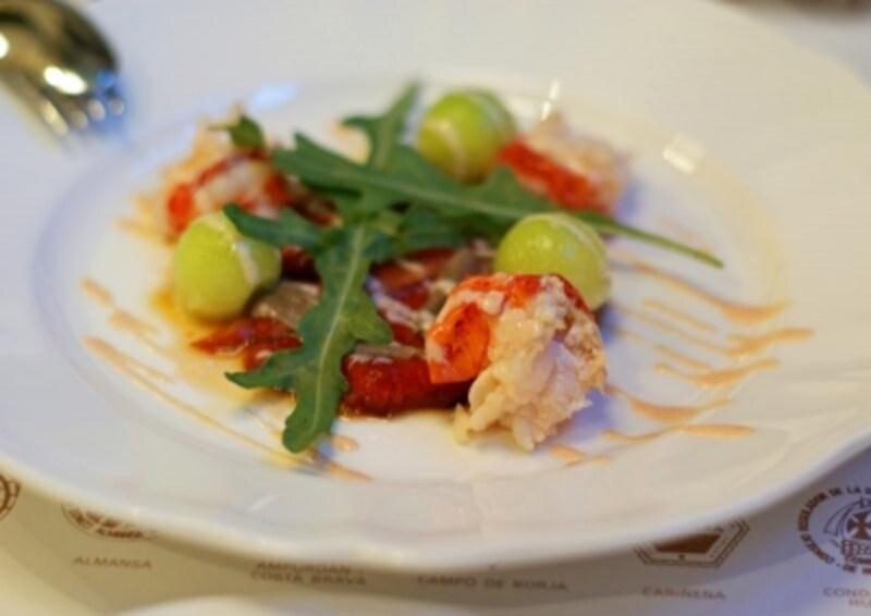 オマール海老と赤ピーマンのサラダ