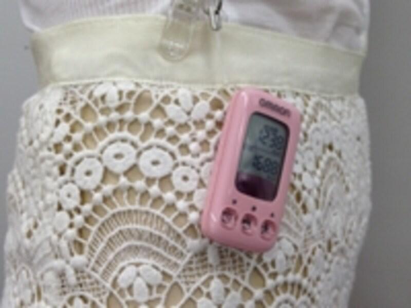 活動量計は、胸に着けるタイプやポケットに入れるタイプなど様々