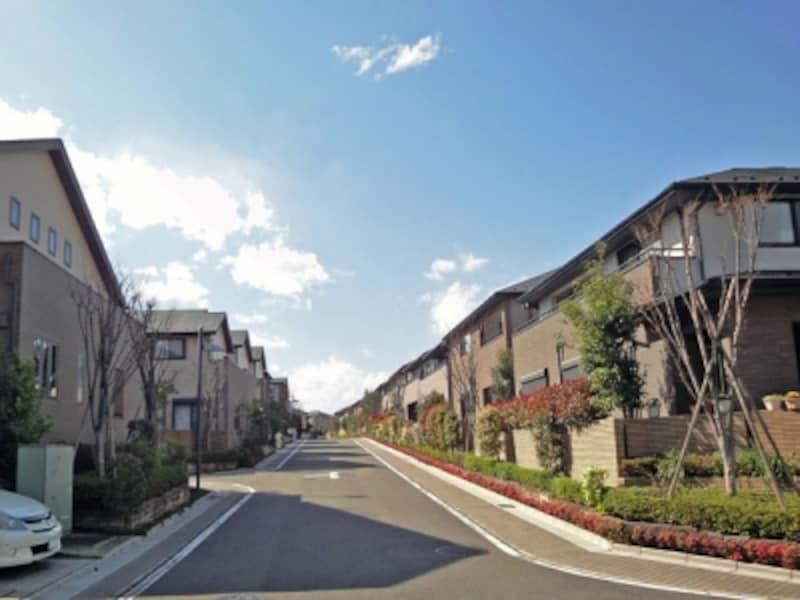 無電柱化した街並み